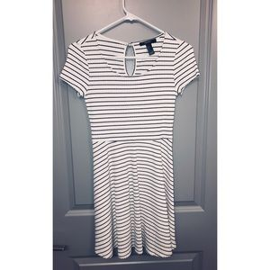 Striped Flirty Skater Dress